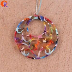 Image 5 - Design cordial 50 pçs 38x41mm fabricação de jóias/feito à mão/peças diy/forma de flor redonda/brinco acessórios/brinco descobertas