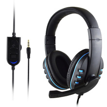 Professional 3.5mm Wired Stereo Gaming Headsets with Microphone Gamer Earphone for PS4/MP3/PC/Computer Headphones for Gamer wired gaming stereo headphone bass with mic for pc computer gamer mp3 player for ps4 with microphone wired hi fi quality