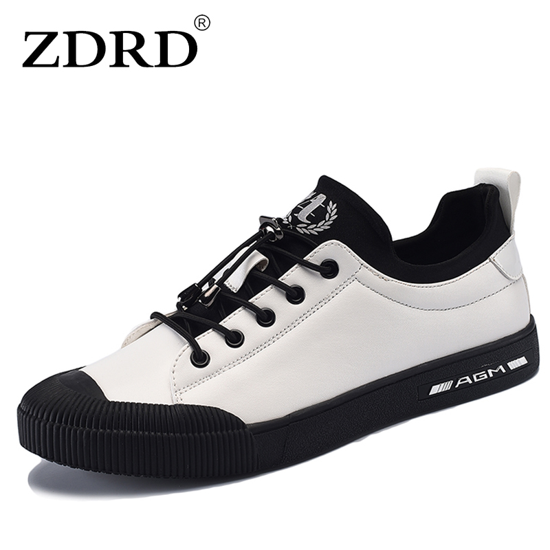 ZDRD Men Breathable Causal Shoes Men Loafers high quality Lace-Up PU Leather Moccasins Bullock Men Oxfords Shoes Flats For Man