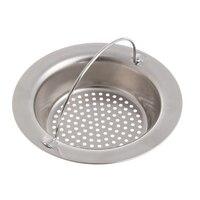 Kitchen Drain Filter Sink Strainer Waste Plug Drain Stopper Filter Basket Stainless Steel