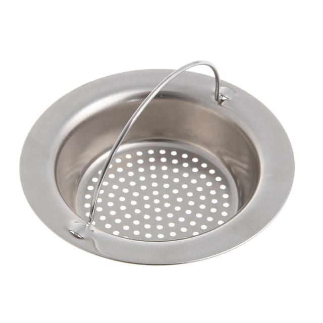 Kitchen Drain Filter Sink Strainer Waste Plug Stopper Basket Stainless Steel