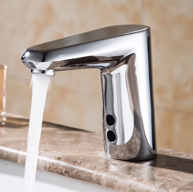 New Style Touch Free Hygienic Water Saving Chrome Automatic ...
