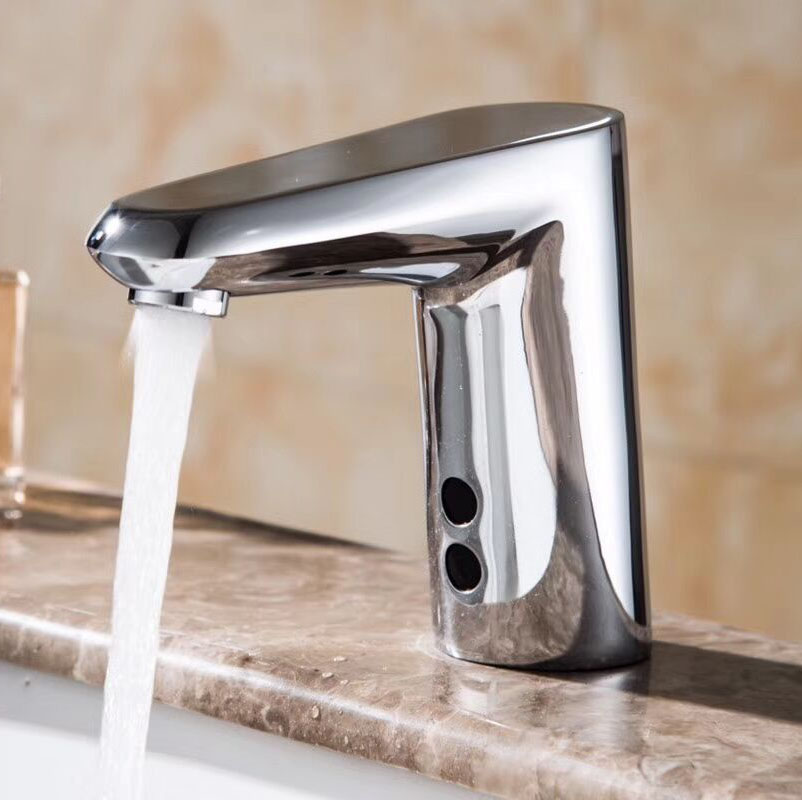 New Style Touch Free Hygienic Water Saving Chrome Automatic Electronic Sensor Tap Infrared Sensor Faucet For Bathroom