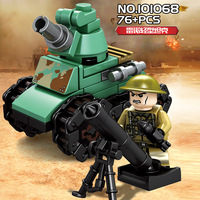 16in1 Military Empires of Steel Tanks Army Force Set Building Blocks Model Compatible legoings WW2 With Weapons Toy For Children