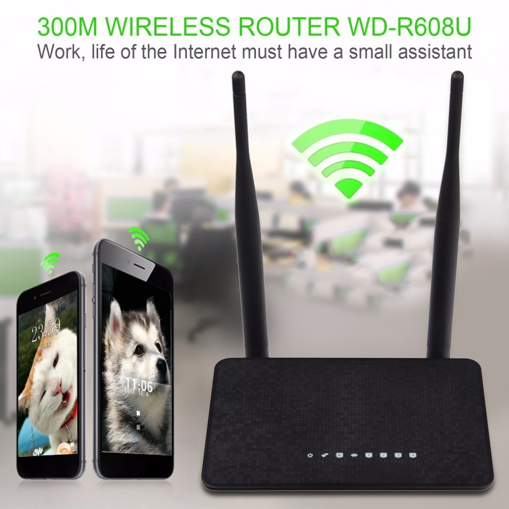 Wireless WiFi Router 1WAN + 4LAN Ports 802.11b/g/n MT7628KN Chipset 2.4Ghz 300Mbps Wi-Fi Repeater Booster With Fixed Aerial