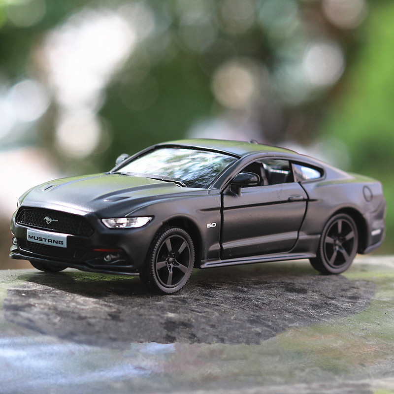 1:36 scale high imitation alloy model car matte ford mustang pull back retro car toy 2 open door toy vehicle