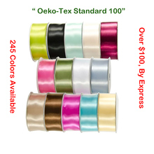 Double Faced Satin Ribbon 38 50 63 75 100 MM 1.5 Inch 3 4 For DIY Wedding Red White Black