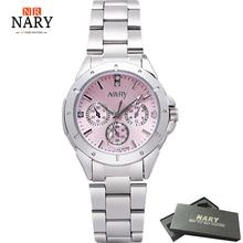 Vestido de Relojes de Las Mujeres de Moda Reloj de Lujo de Acero Inoxidable de Diamante de Alta Calidad Señoras Reloj de Las Mujeres Rhinestone Relojes Reloj Mujer