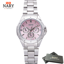 Jurk Horloges Damesmode Luxe Horloge Roestvrij Staal Hoge kwaliteit Diamant Dameshorloge Dames Strass Horloges Reloj Mujer