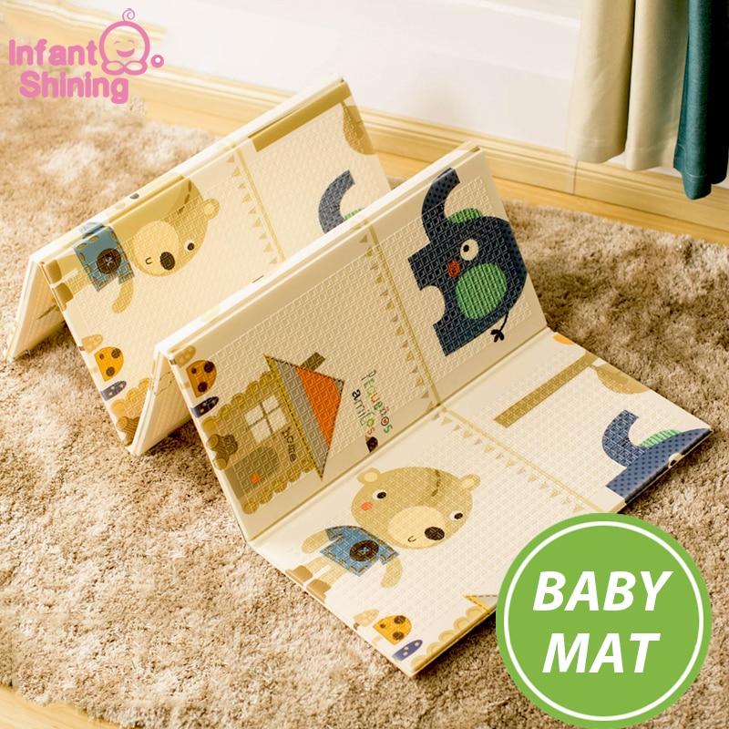 Tapis de jeu bébé Portable pliable bébé escalade Pad mousse Pad XPE environnement insipide salon jeu couverture