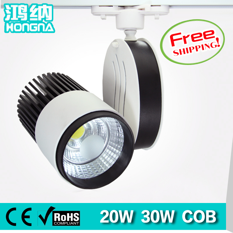 Free Shipping 20W LED Track Lights AC110V/220V Shopping Mall Store Exhibition Room LED Track Lighting With 2-Wire Connector кровельный саморез kenner 4 8х35 ral1014 слоновая кость 250шт ск351014ф