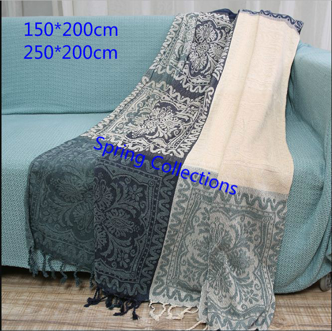 Waffle Blanket Weave Fringed Sofa Bed Cover Baby Throw Rug Slipcover 1.3*1.6m Choice Materials Home Automation Modules