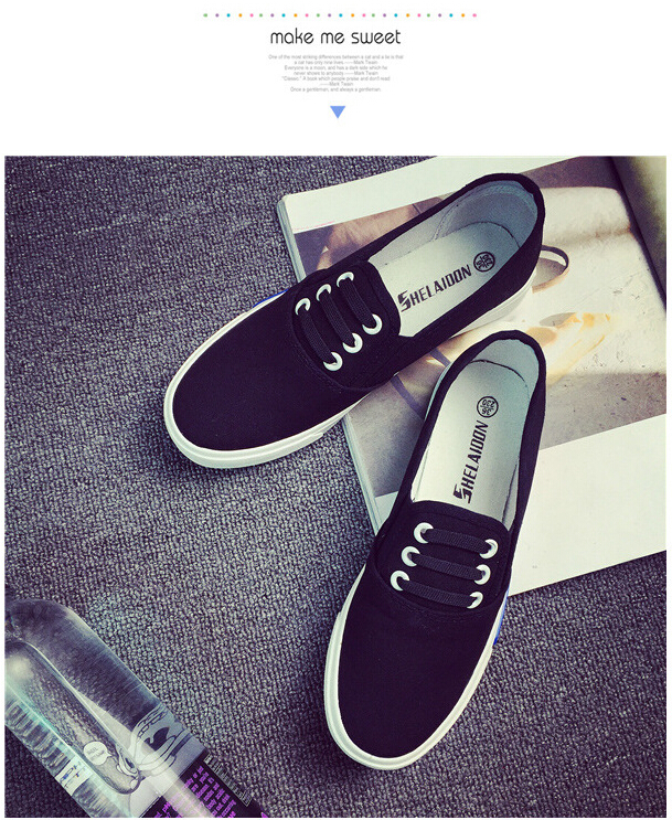 Free Shipping Spring and Autumn Men Canvas Shoes High Quality Fashion Casual Shoes Low Top Brand Single Shoes Thick Sole 7583 -  -  (2) -  -  -  -