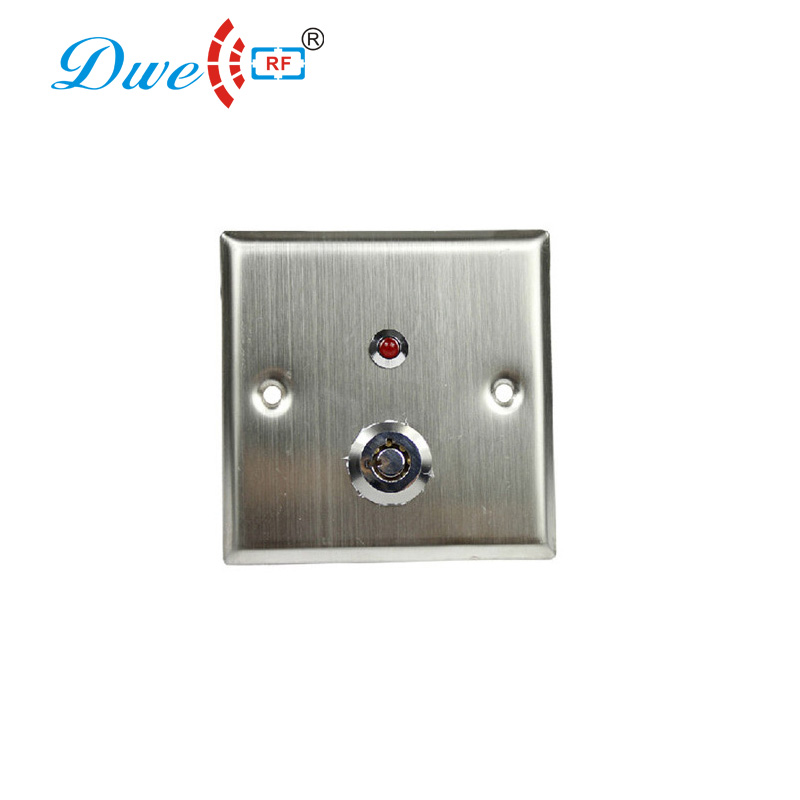 DWE CC RF aluminum access control key exit button with led light indicator dwe cc rf access control kits aluminum alloy silver door open push release switch with key