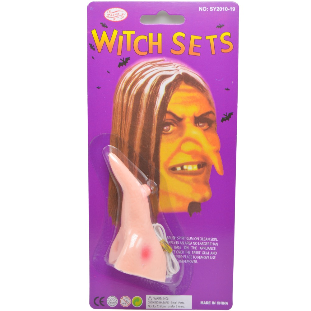 1pc carnival halloween holiday wicked witch nose halloween party accessory girl lady dressing up nose - Cheapest Place To Buy Halloween Costumes