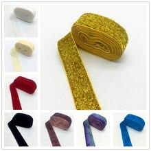 """3 ярда """"(25 мм) бархатная лента для украшения свадебной вечеринки лента ручной работы подарочная упаковка бантик для волос DIY Рождественская лента"""
