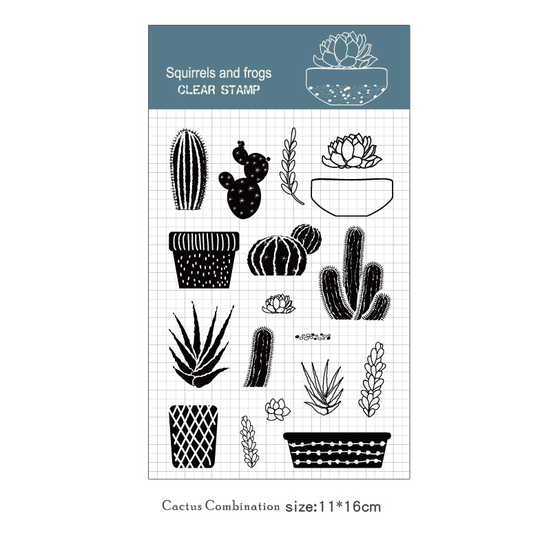 Silicone Animal Clear Rubber Stamps Seal Scrapbooking Diary Album DIY Decoration Bear Cactus Paper Card Photo Frame Making In From Home Garden On