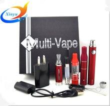 ใหม่หลายvapeบุหรี่อิเล็กทรอนิกส์ชุดEvodแบตเตอรี่ที่มี4เครื่องฉีดน้ำสำหรับสมุนไพรแห้งเป็น4 In 1บุหรี่อิเล็กทรอนิกส์ของขวัญชุดMt3 Vaporizer