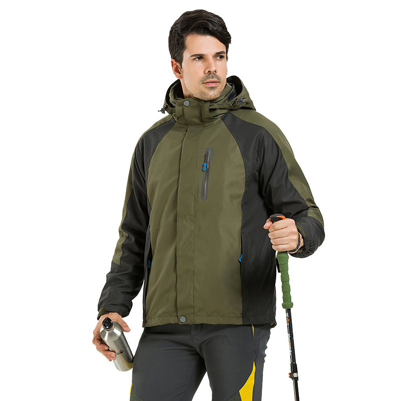 Hot Winter 3in1 Fleece Inner Waterproof Windbreaker Outdoor Jacket Men Hiking Camping Hooded Ski Coat Sports Jaqueta Masculina drmundo hiking jacket men plus size windbreaker waterproof ski outdoor rain jacket mountaineering fleece jacket lengthened