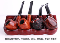 20167 Ebony Pipe Briar Pipe Handmade Vintage Tobacco Filter Bucket Portable Straight Curved Wood Free Shipping