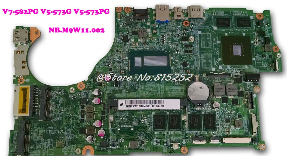 Laptop Motherboard For ACER V5 V7 582PG V5 573G V5 573PG i7 4500U VRAM NB.M9W11.002 New and Original