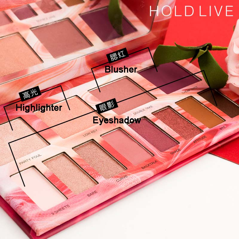 12 Color Pro Nude Makeup Eyeshadow Palette Cosmetic Highlighter Blusher Makeup Set Matte Earth Smoky Shimmer Eyeshadow Palette in Eye Shadow from Beauty Health