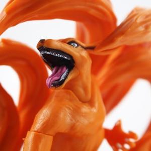 Image 5 - 2pcs/Lot Naruto Figure Toy Tailed Beast Shukaku Kurama Kyuubi Animal Model Dolls Children Gift