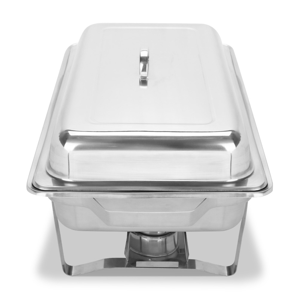 Free shipping to Itlay / 2 pieces of 9 L Stainless Rectangular Chafing Dish Sets vibration of orthotropic rectangular plate
