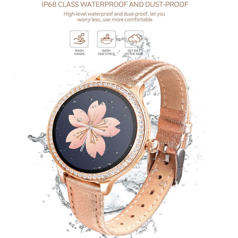 IP68 Smart Watch Kebugaran Aktivitas Tracker Denyut Jantung Tekanan Darah Monitor Olahraga Smart Watch untuk Wanita