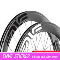 12pcs logo 700c road bicycle carbon wheelset sticker 30/38/40/50/55/60/80/88mm brand road bicycle wheels sticker decal