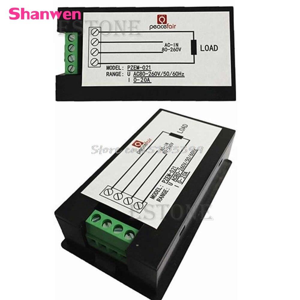 AC 80-260V LCD numérique 20A volts Watt ampèremètre voltmètre G08 vente en gros et livraison directe