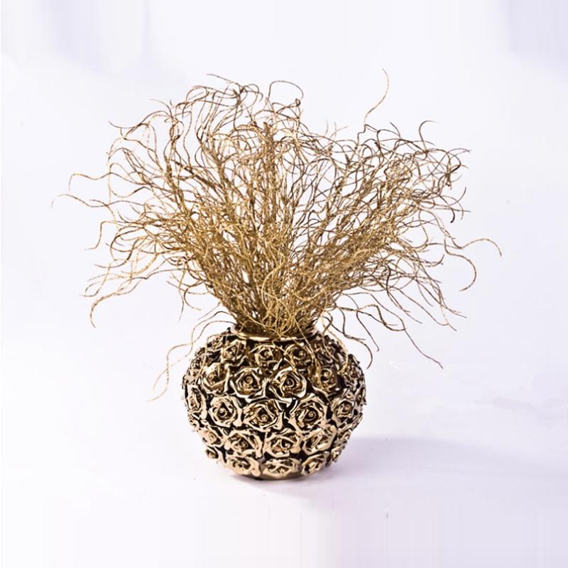 Umělé květiny / Vánoční ozdoby Křišťálové umělé rostliny / Juncus effusus / dekorativní květina