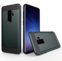 ФОТО  luxury dual hybrid brushed hard case back cover shockproof for samsung galaxy s9 for samsung galaxy s9 plus