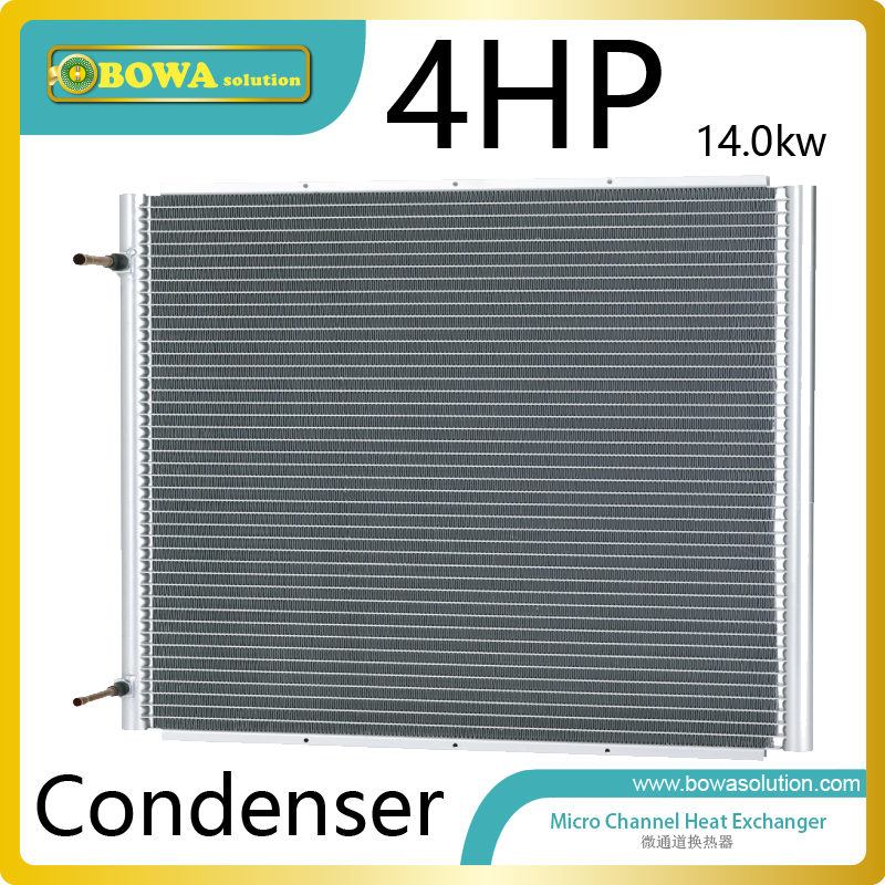 4HP high efficient microchannel cocondenser without fan for air source heat pump dry chamebers font b