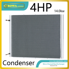 4HP high efficient microchannel cocondenser without fan for air source heat pump dry chamebers replace MCHE heat exchangers