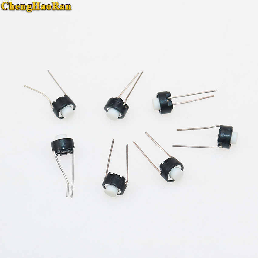 ChengHaoRan 1 pièces bouton de commutation Tactile 6*6*5mm DIP 6X6X5mm Tactile bouton poussoir Micro interrupteur momentané pour A-L-P-S blanc