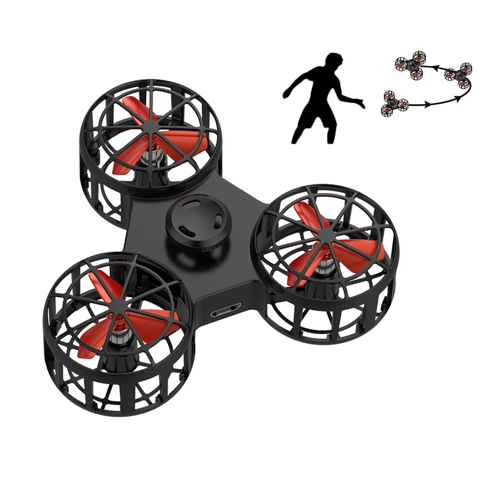 Global Drone Mini Flying Fidget Spinner Autism Anxiety Stress Release Toy Micro Flying Spinning Funny Gift Toys For Children