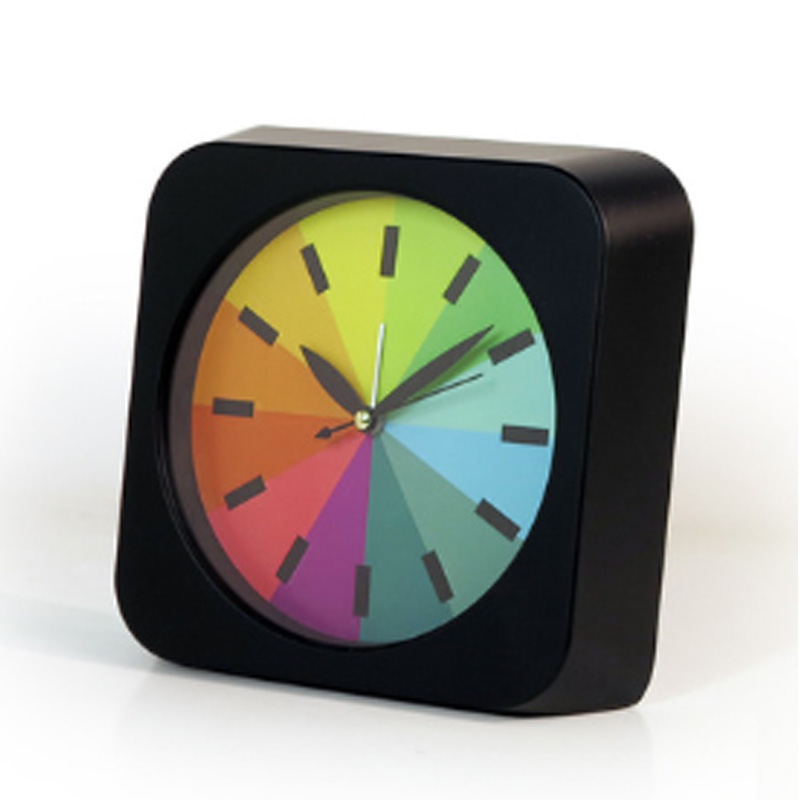 New Fashion rainbow alarm clock creative super quiet mini alarm clock simple fashion student cartoon alarm clock student gift Будильник