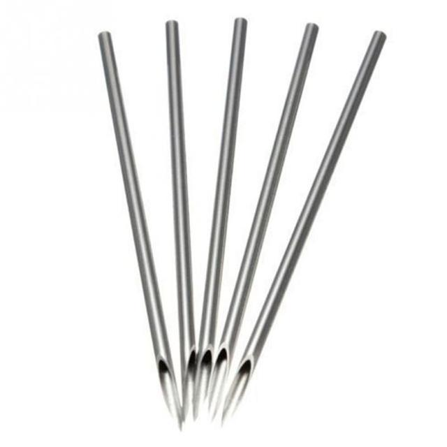 10pcs Disposable Sterile Body Piercing Needles Medical Tattoo Piercing Needles For Navel Nipple Ear Nose Lip 12g/14g/16g/18g/20g 1