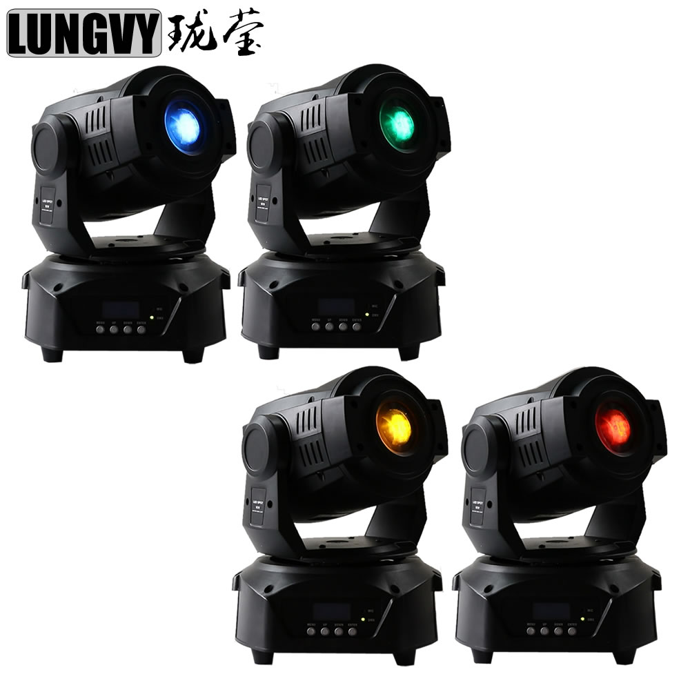 Free Shipping 4pcs/Lot LED Moving Head Light Spot 90W 3-Facet Prism Club Dj Disco DMX Stage Spot Lights
