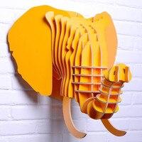 Голова слона для декора стен, деревянные украшения слон, резные корабль DIY дерево, животных домашнего декора, новинки пункт, украшения объек
