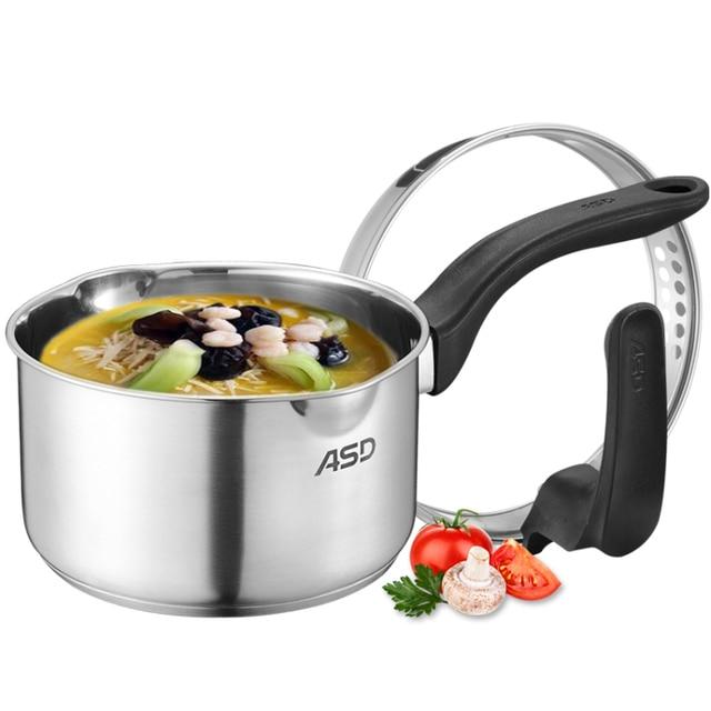 Steamer Pot Kitchen Accessories Double Bottom Saucepan Noodles Porridge  Milk Heat Instant Pot (lid Can