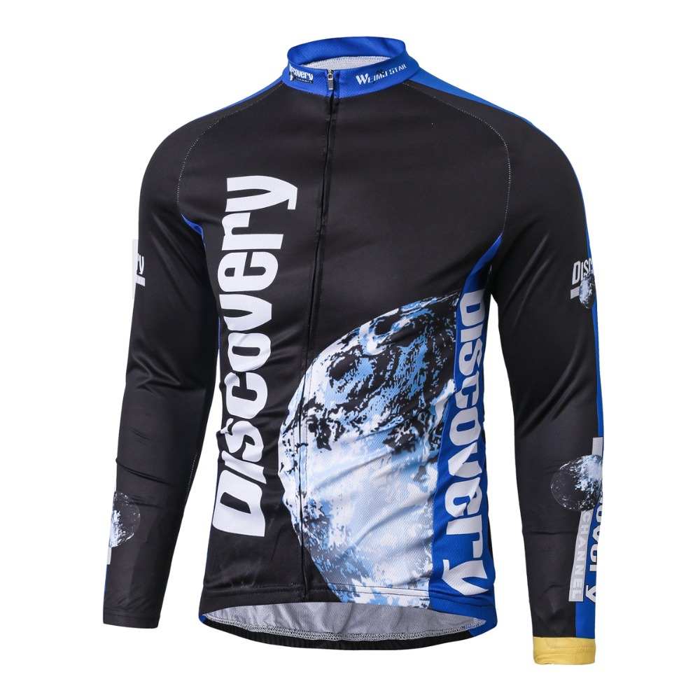 цена на Weimostar Discovery Cycling Jersey Long Sleeve Maillot Ropa Ciclismo Bicycle Clothing MTB Bike Jersey Cycle Shirt S-XXXL