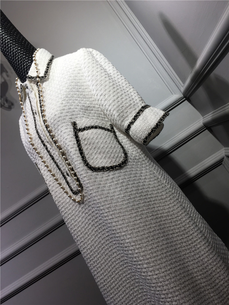 women elegant office dress,custom plus size xs-6xl,tweed winter dress,ladies vestidos de fiesta,tweed autumn White dress 13
