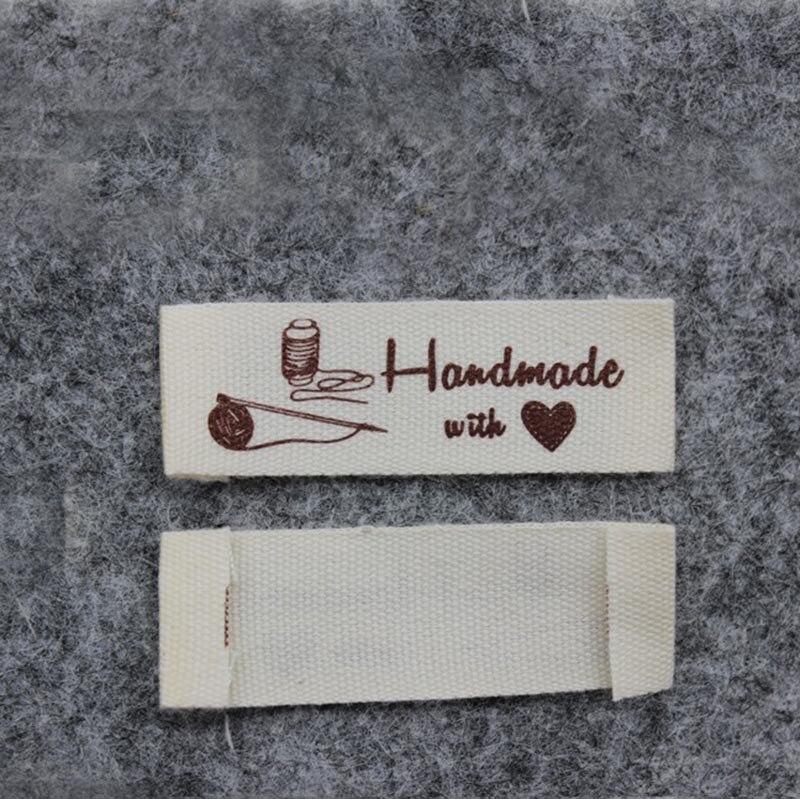 Высокое качество, Детская Хлопковая этикетка,, этикетка «сделай сам» ручной работы с надписью «love» - Цвет: thread 1