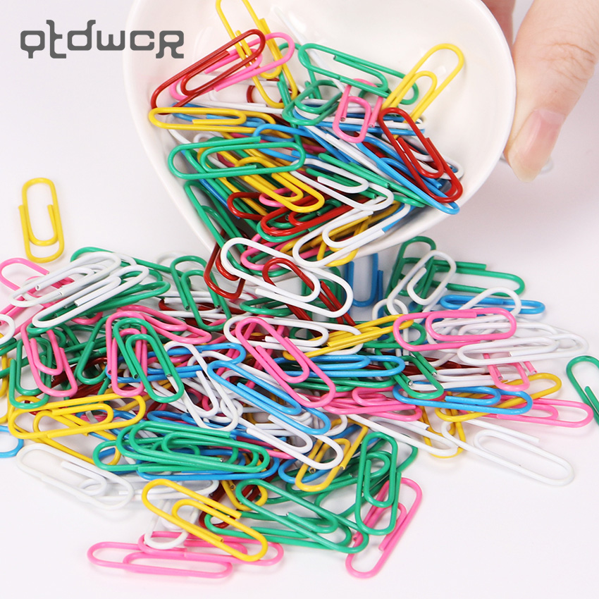 80PCS Colorful Metal Binder Clip Paper Clip Office Stationery Binding Supplies Office Shool Stationery Marking Clips