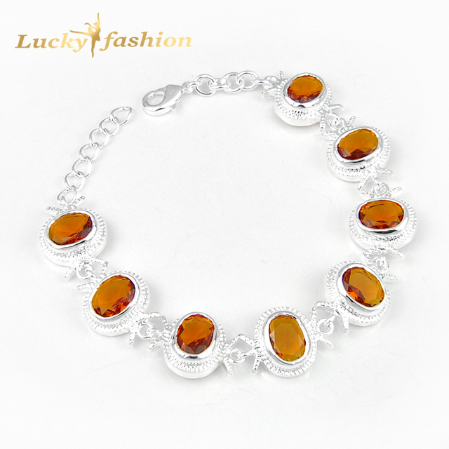 Hochzeitsgeschenk 8x Oval Brasilien Stein Kristall Armband Russland