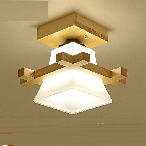 new chinese aisle corridor light Solid wood ceiling lamp balcony American Scandinavian CL american copper balcony aisle ceiling lamp simple industry retro corridor restaurant ceiling light free shipping