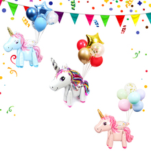7pcs New 4D Unicorn Foil Balloons Birthday Party Decoration Kids and Adult Wedding Ballons Babyshower Childrens Toy