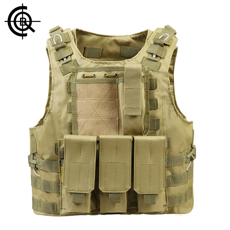 CQB USMC Airsoft Tactical Military Molle Combat Assault Plate Carrier Vest Tactical Waistcoat CS Outdoor Hiking Vest CBX0023